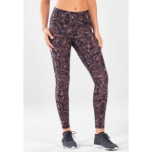 Fabletics High-Waisted Floral PowerHold Leggings